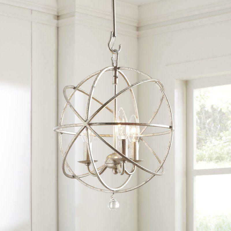 Gregoire 6 Light Globe Chandeliers Inside Famous Gregoire 3 Light Globe Chandelier In  (View 11 of 25)