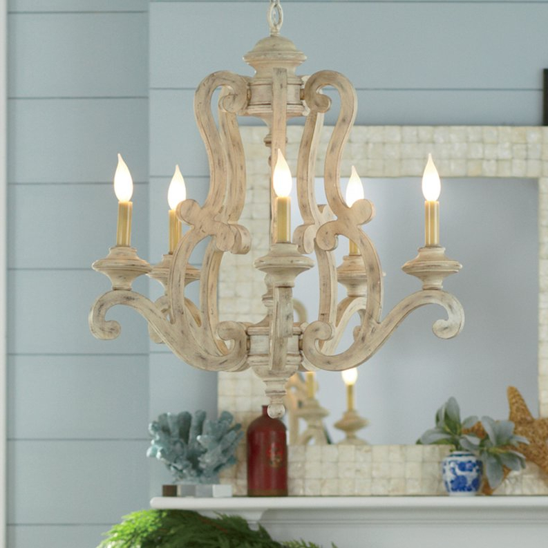 Guglielmo 5 Light Candle Style Chandelier Pertaining To Widely Used Corneau 5 Light Chandeliers (View 24 of 25)