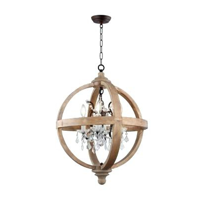Hatfield 3 Light Novelty Chandeliers In Well Known Metal And Wood Chandelier – Michaeljhouser (View 7 of 25)