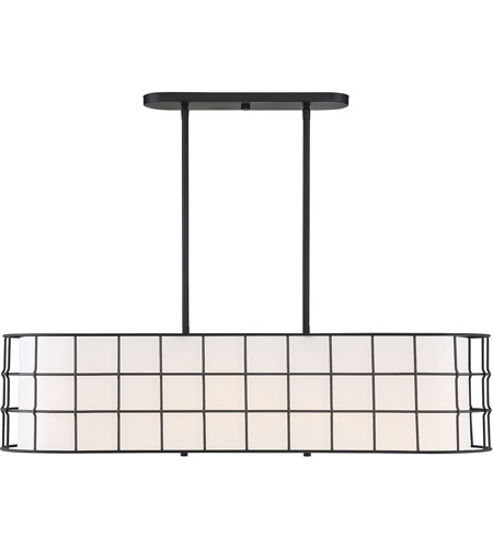 Hayden 5 Light 42 Inch Matte Black Linear Chandelier Ceiling Light For Most Up To Date Hayden 5 Light Shaded Chandeliers (View 8 of 25)