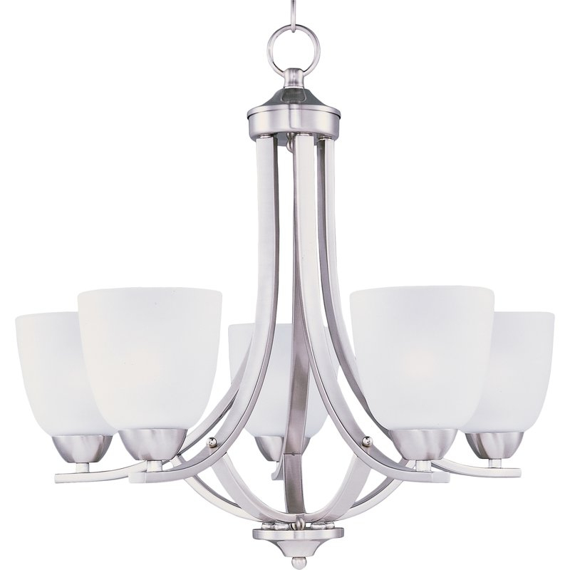 Hayden 5 Light Shaded Chandelier With Preferred Crofoot 5 Light Shaded Chandeliers (View 12 of 25)