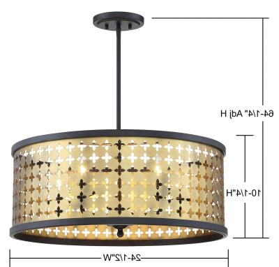 Hayden 5 Light Shaded Chandeliers For Latest Pendants – Drum Shade (View 11 of 25)