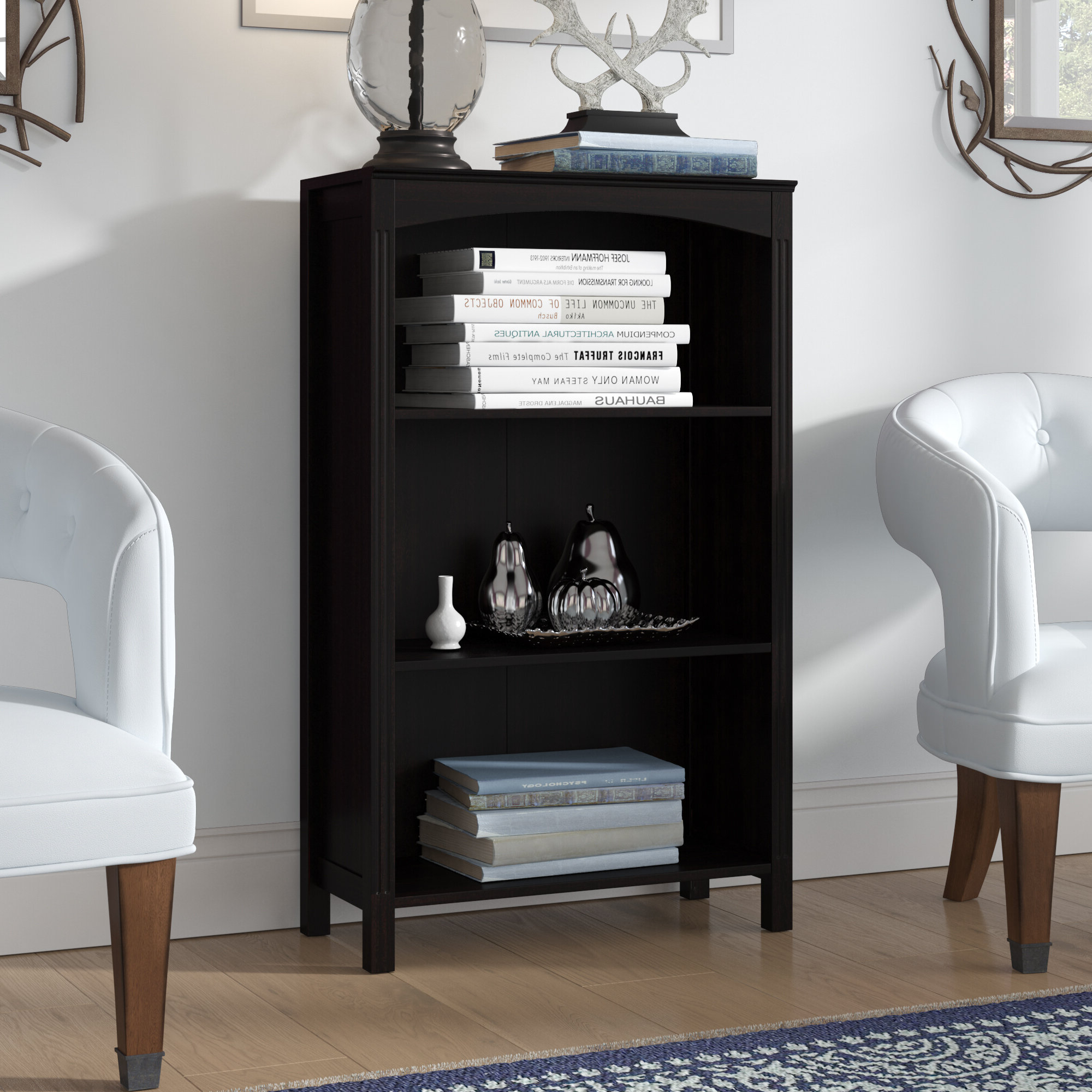 Herrin 2 Tier Standard Bookcases With Popular Macomb Standard Bookcase (View 11 of 20)