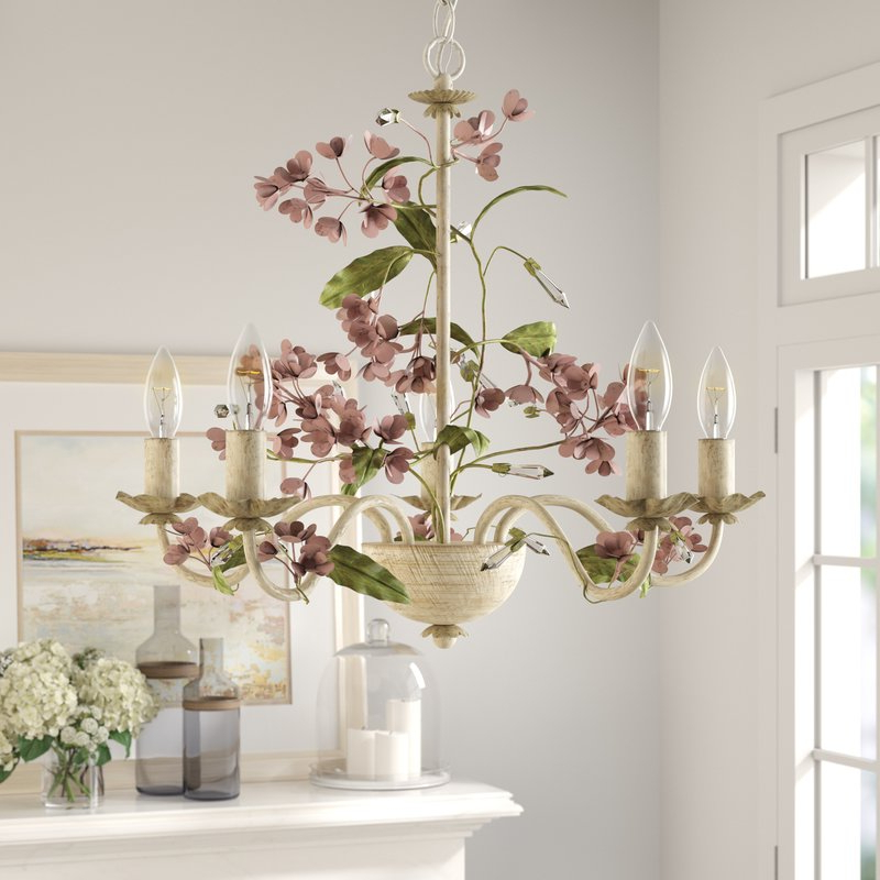 Hesse 5 Light Candle Style Chandeliers Regarding Well Known 5 Light Candle Style Chandelier (View 11 of 25)