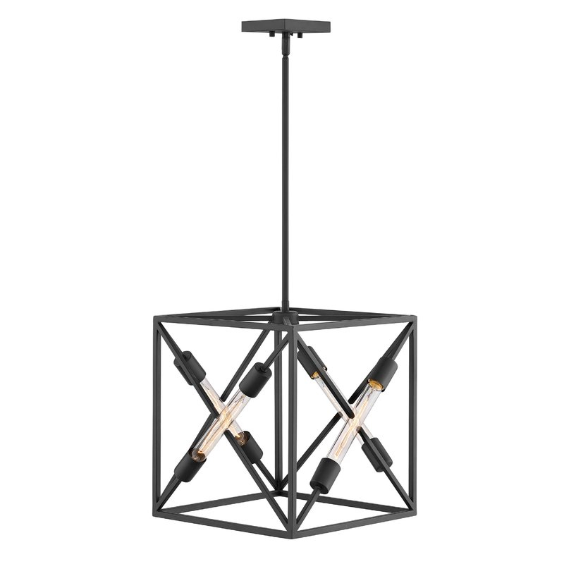 Hewitt 4 Light Square Chandelier With Regard To 2017 Hewitt 4 Light Square Chandeliers (View 7 of 25)