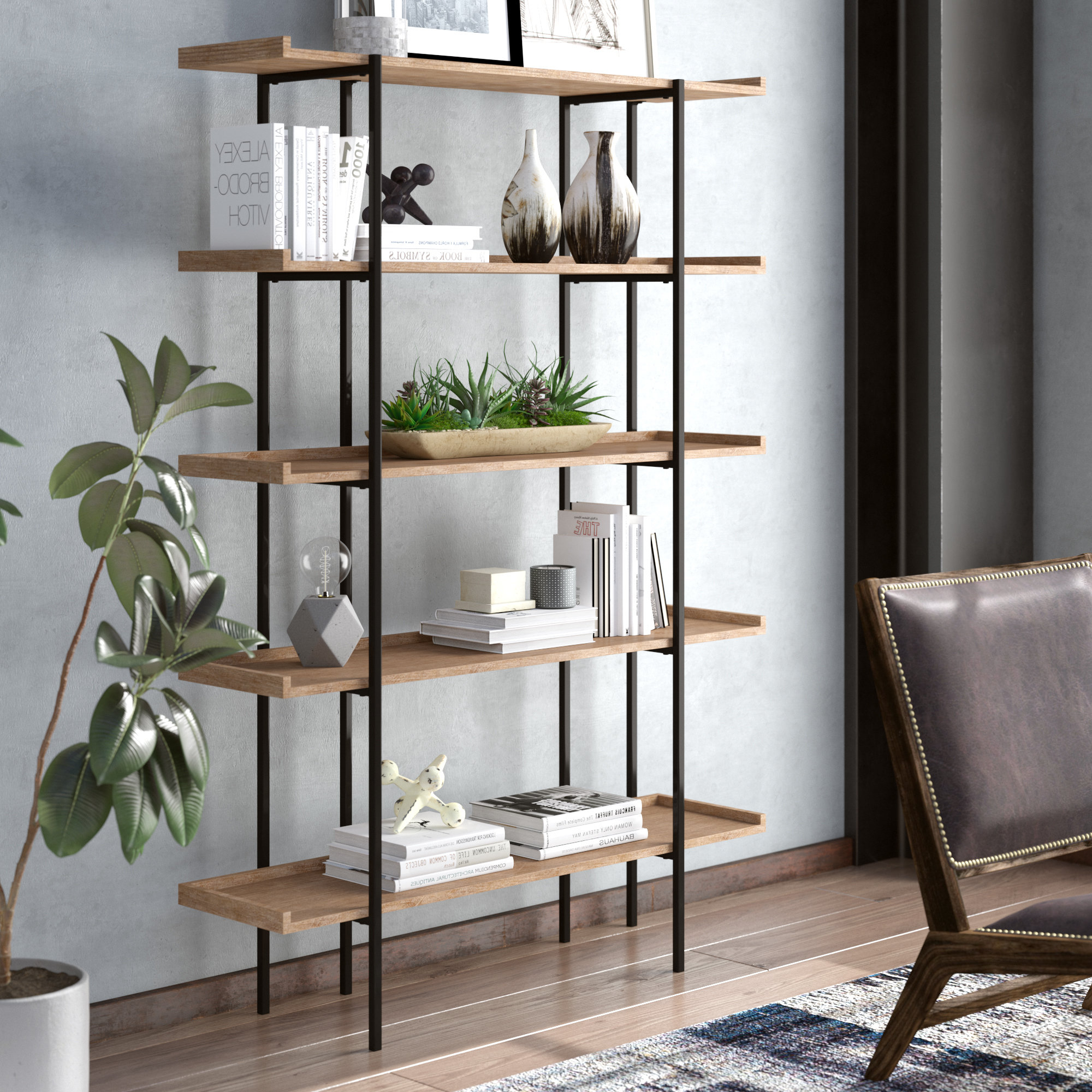 Hickenbottom Etagere Bookcase With Most Recently Released Caitlyn Etagere Bookcases (View 6 of 20)