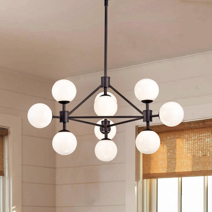 Hills 10 Light Sputnik Chandelier With Regard To Most Popular Everett 10 Light Sputnik Chandeliers (View 11 of 25)