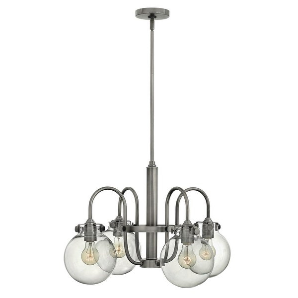 Hinkley Lighting 3044 Congress 4 Light 1 Tier Chandelier With Clear Globe  Shade – N/a Throughout Most Up To Date Hewitt 4 Light Square Chandeliers (View 14 of 25)