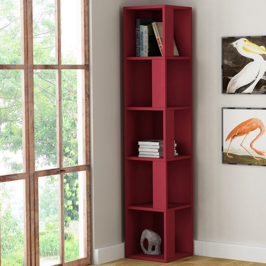 Hokku Designs Piano Corner Bookcase Pertaining To Popular Corner Bookcases By Hokku Designs (View 12 of 20)