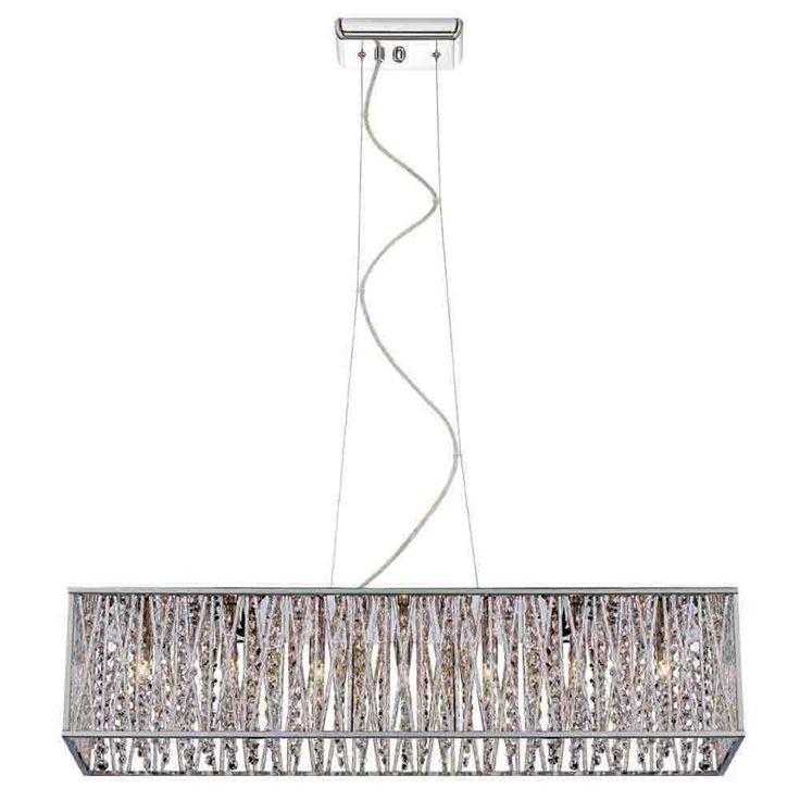 Home Decorators Collection Saynsberry 7 Light Chrome Island Intended For Most Popular Dirksen 3 Light Single Cylinder Chandeliers (View 22 of 25)