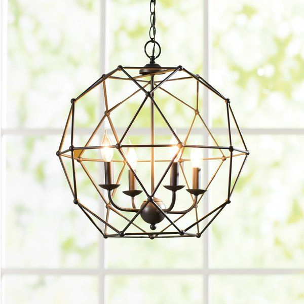 Home Finishes With Widely Used Cavanagh 4 Light Geometric Chandeliers (View 16 of 25)