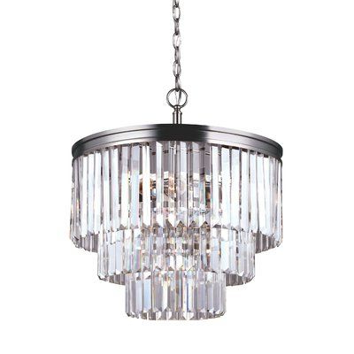 Home Ideas In Clea 3 Light Crystal Chandeliers (View 6 of 25)