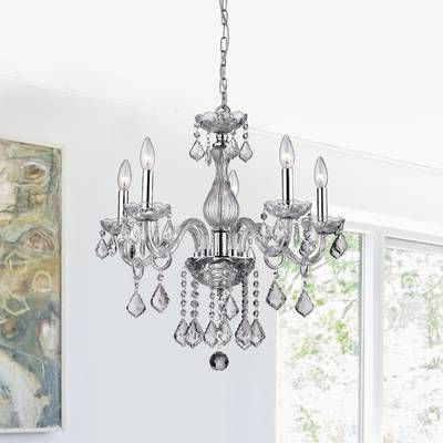 Home Inside Fashionable Hesse 5 Light Candle Style Chandeliers (View 15 of 25)