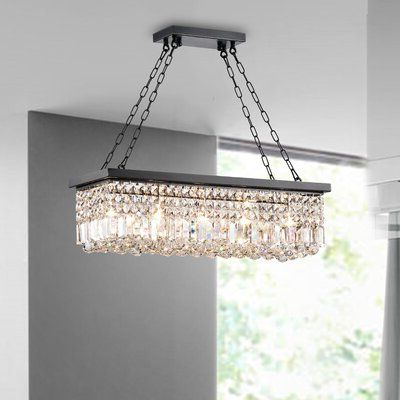 Huskar Bronze 4 Light Pendant With Crystal Shade – Artofit Within Newest Verdell 5 Light Crystal Chandeliers (View 12 of 25)