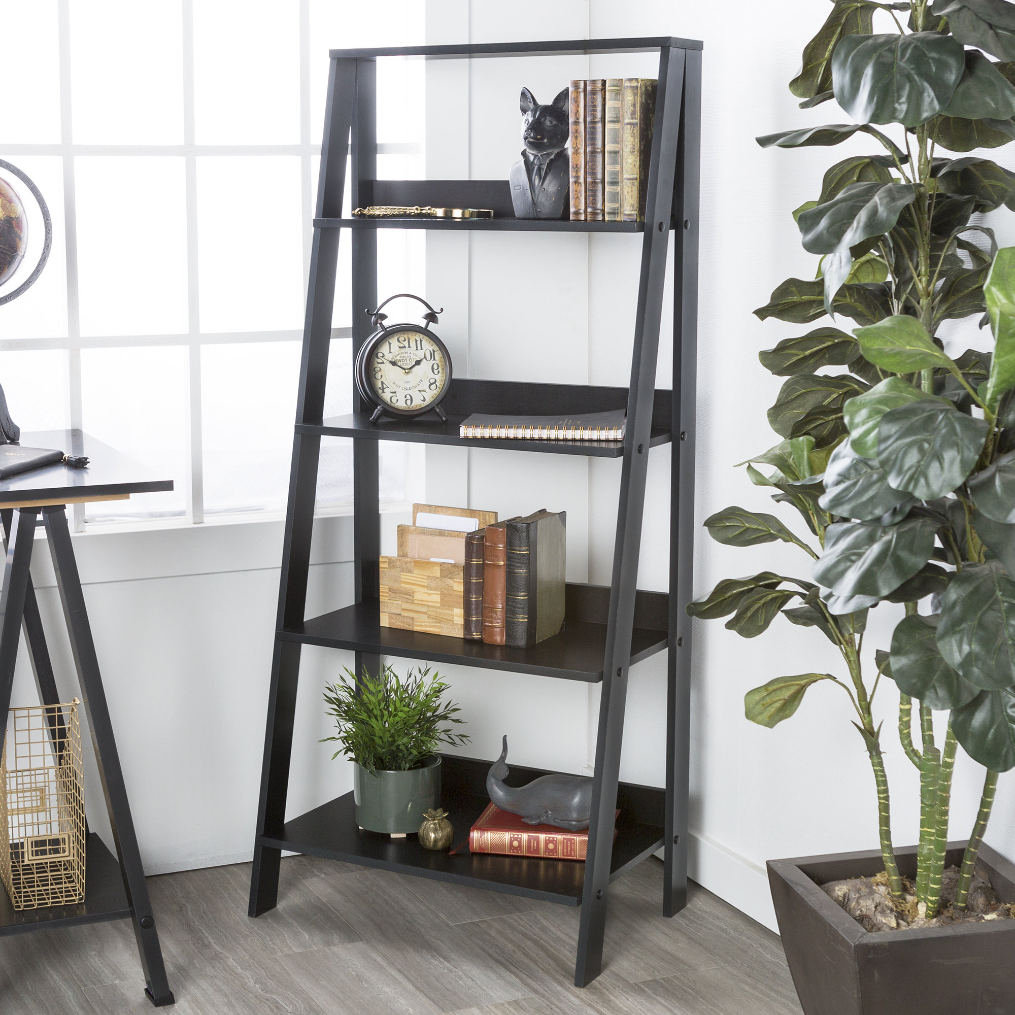 Imogen Ladder Bookcase Throughout Recent Kaitlyn Ladder Bookcases (Gallery 13 of 20)