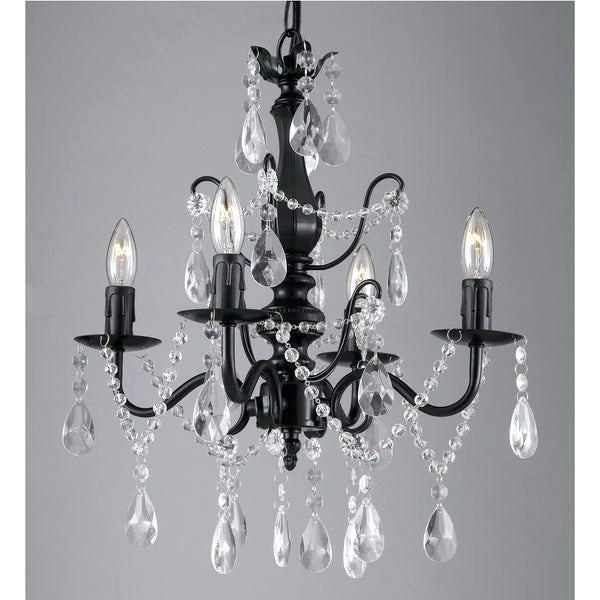 Iron And Crystal Chandelier – Hirokostrauch.co Throughout Most Popular Albano 4 Light Crystal Chandeliers (Gallery 18 of 25)