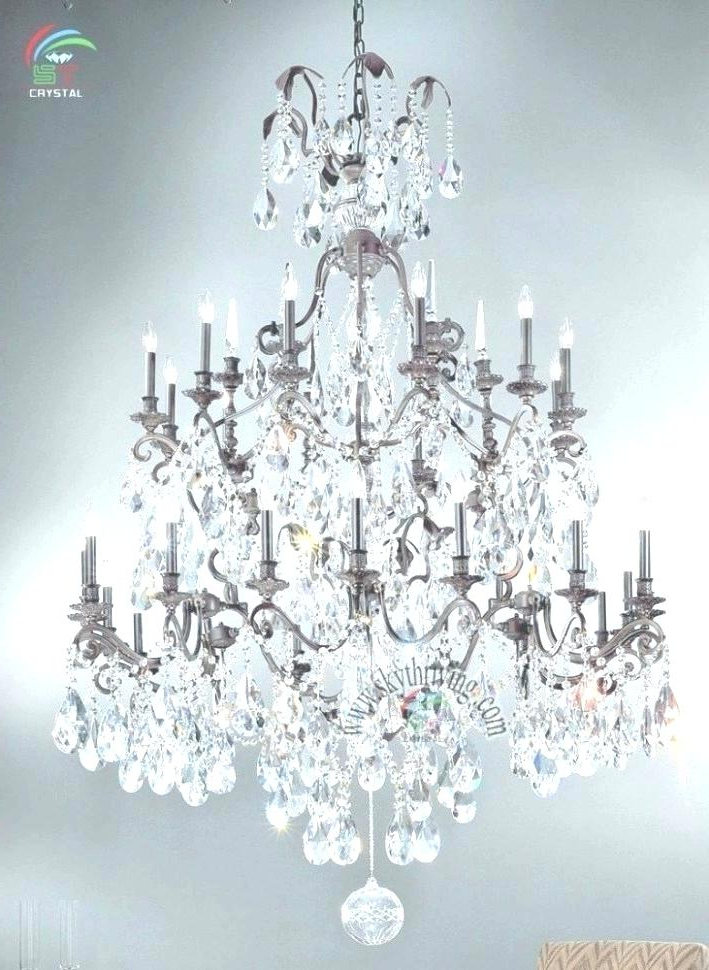 Iron And Crystal Chandelier – Reyaustell.co Regarding Most Recently Released Albano 4 Light Crystal Chandeliers (Gallery 23 of 25)