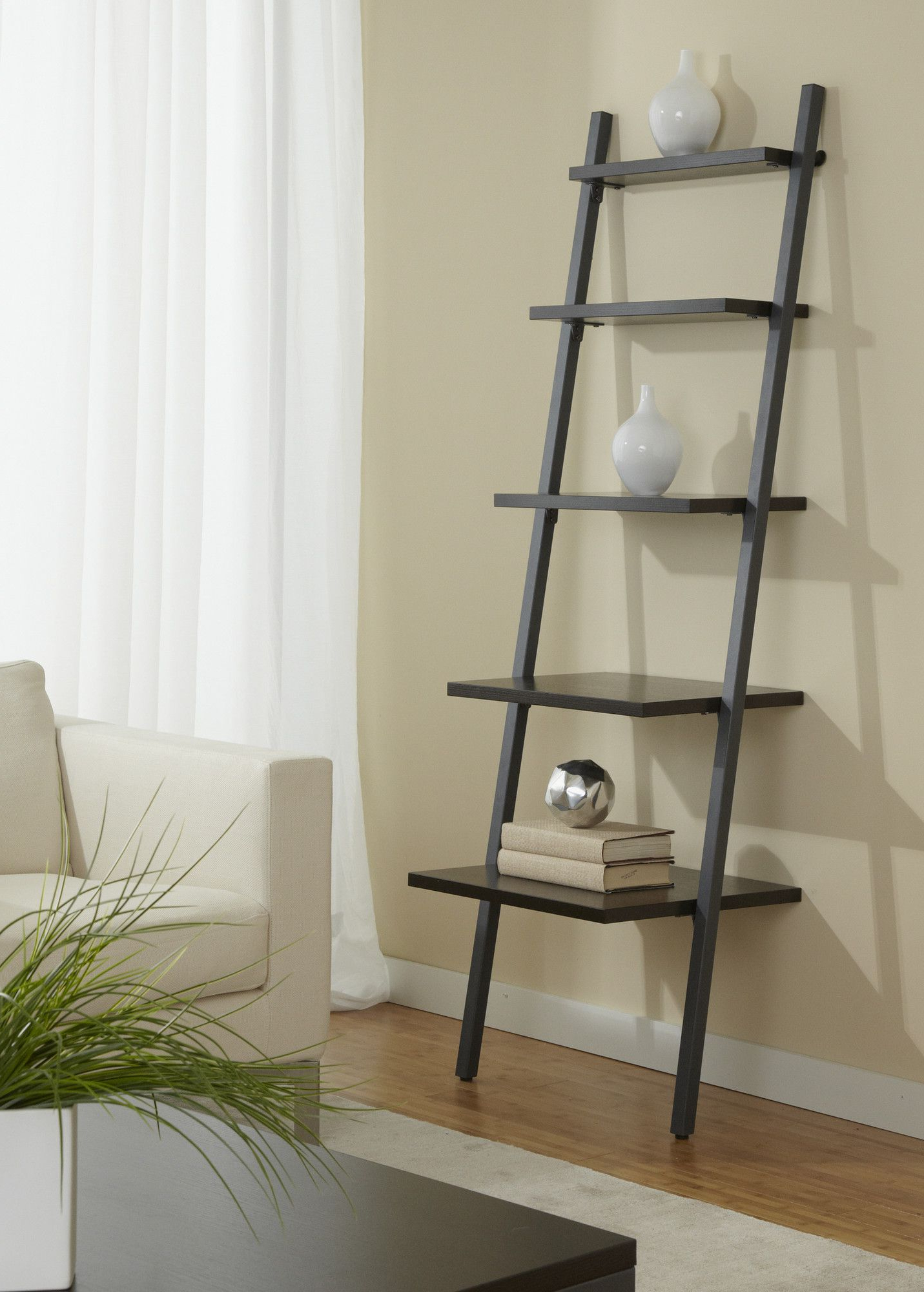 Jesper Office Jesper Office B2271 Five Tier Ladder Bookcase Throughout Most Current Antoninus Ladder Bookcases (Gallery 5 of 20)