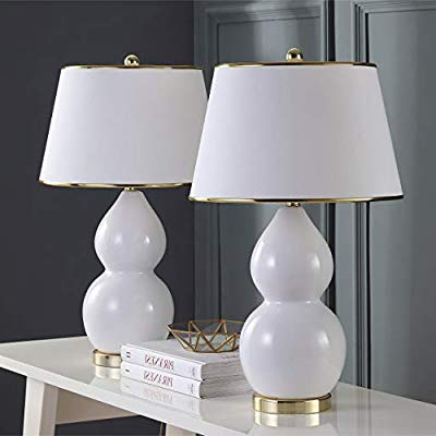 Jill 4 Light Drum Chandeliers For Famous Safavieh Lighting Collection Jill White Double Gourd 25.5 Inch Table Lamp (set Of 2) (Gallery 16 of 25)