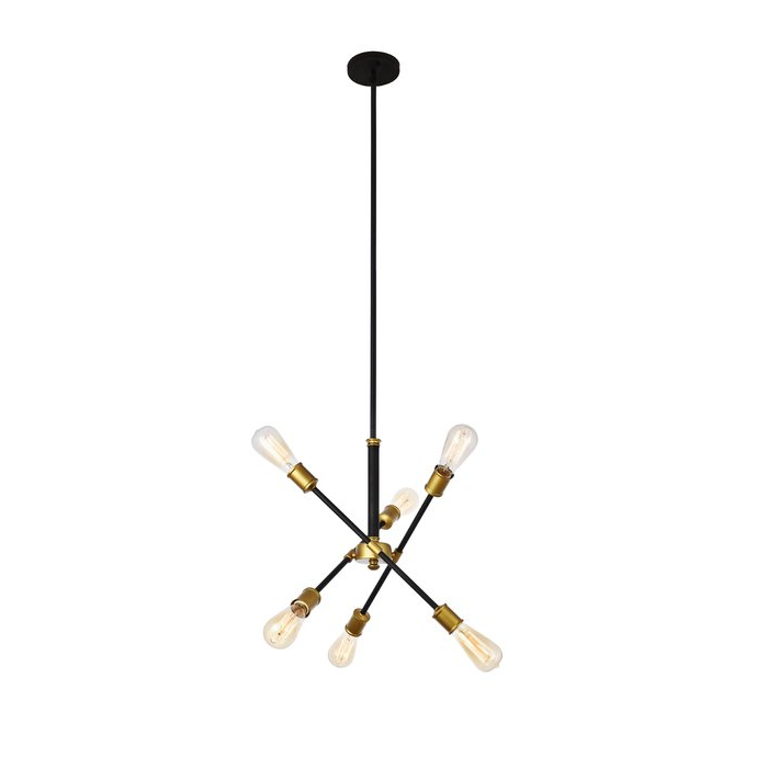 Johanne 6 Light Sputnik Chandelier Regarding 2018 Johanne 6 Light Sputnik Chandeliers (Gallery 6 of 25)