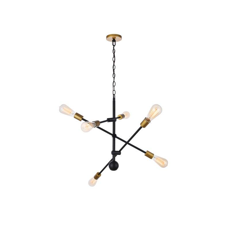 Johanne 6 Light Sputnik Chandeliers In Most Recent Johanne 6 Light Sputnik Chandelier (Gallery 2 of 25)