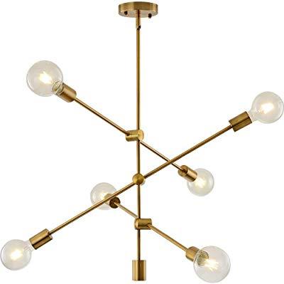 Johanne 6 Light Sputnik Chandeliers Intended For Well Known Amazon: Bonlicht Modern Sputnik Chandelier Lighting 6 (Gallery 18 of 25)