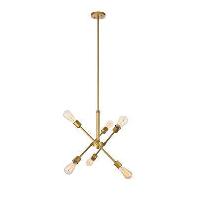 Johanne 6 Light Sputnik Chandeliers With Well Known Modern Rustic Interiors Johanne 6 Light Sputnik Chandelier (Gallery 8 of 25)