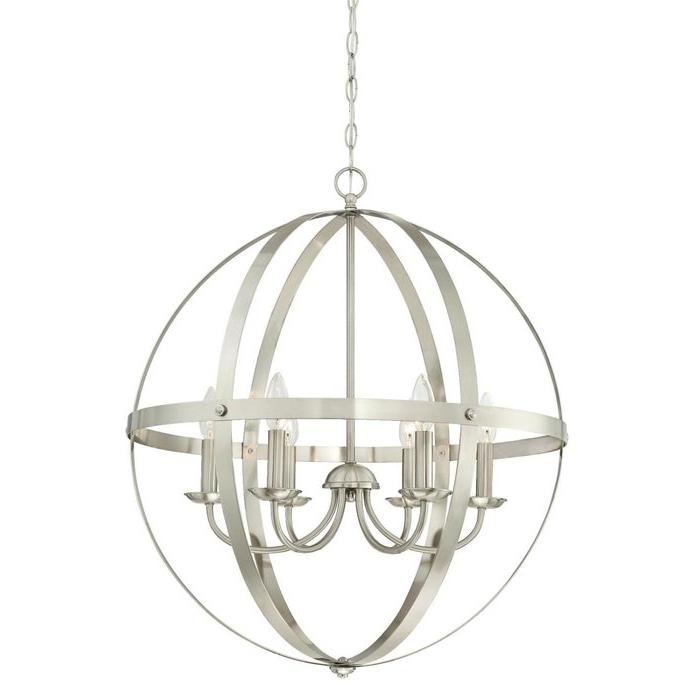 Joon 6 Light Globe Chandelier Intended For Famous Filipe Globe Chandeliers (View 16 of 25)