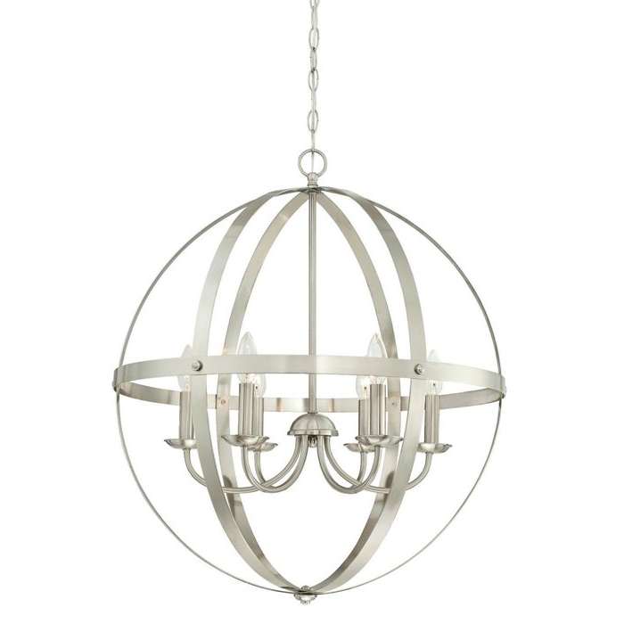 Joon 6 Light Globe Chandelier Within Most Current Donna 6 Light Globe Chandeliers (View 14 of 25)