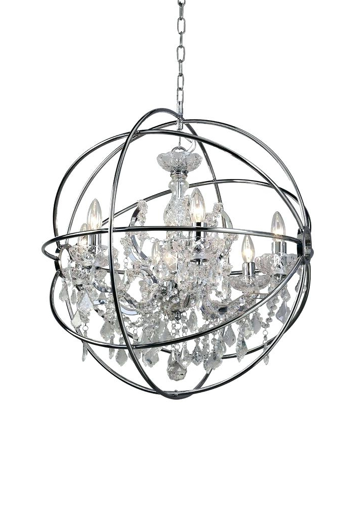 Joon 6 Light Globe Chandeliers In Most Up To Date 6 Light Globe Chandelier – Luwalcott.co (Gallery 16 of 25)
