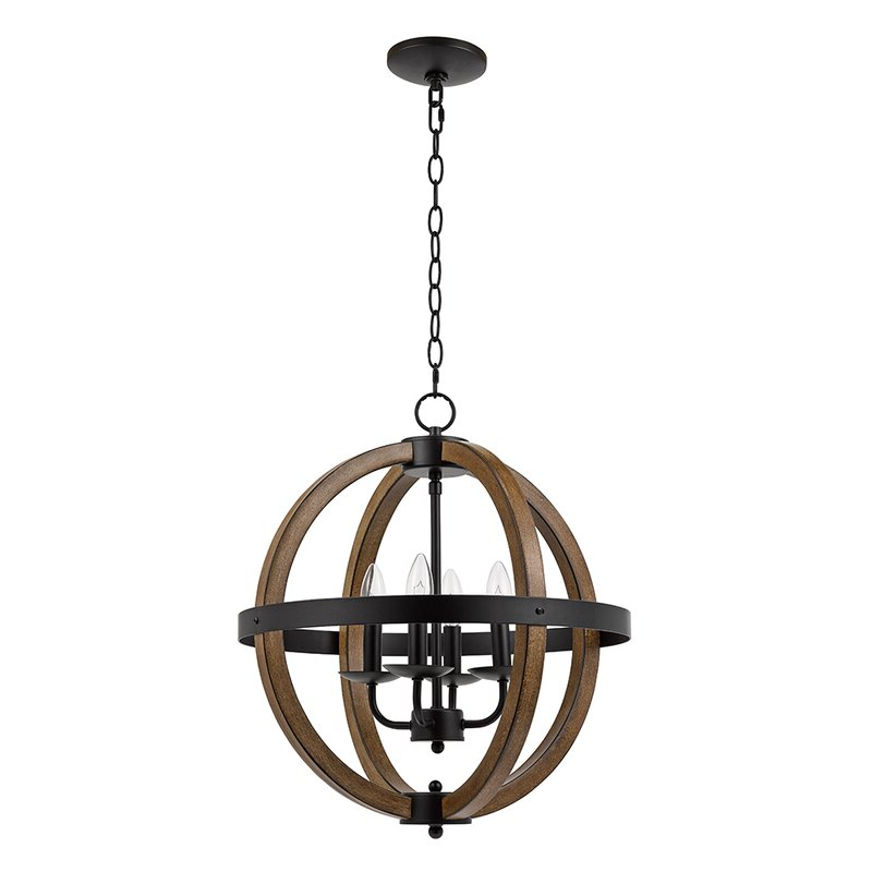 Joon 6 Light Globe Chandeliers Pertaining To Most Current Addison Faux Wood Cage 4 Light Globe Chandelier (Gallery 20 of 25)