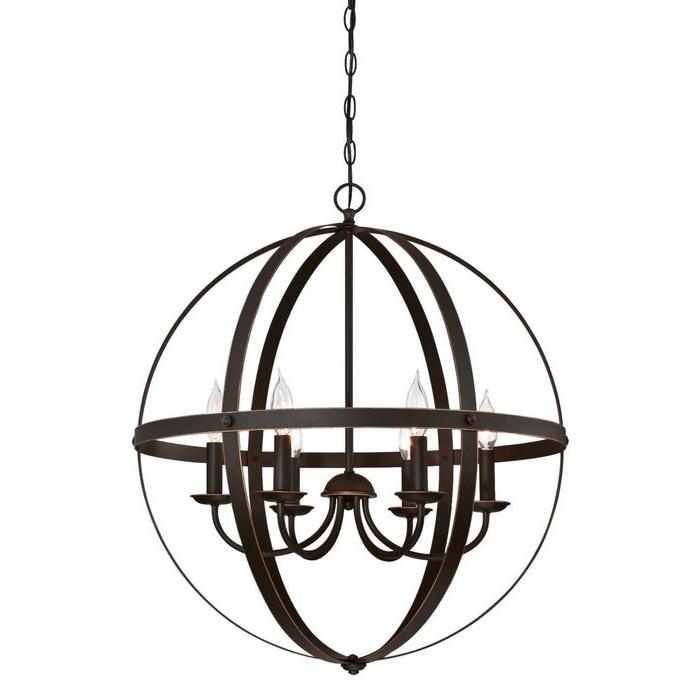 Joon 6 Light Globe Chandeliers With Fashionable Joon 6 Light Globe Chandelier (Gallery 4 of 25)