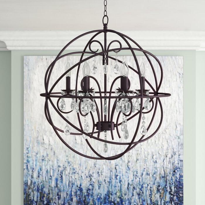 Joon 6 Light Globe Chandeliers With Regard To Trendy Alden 6 Light Globe Chandelier (View 16 of 25)