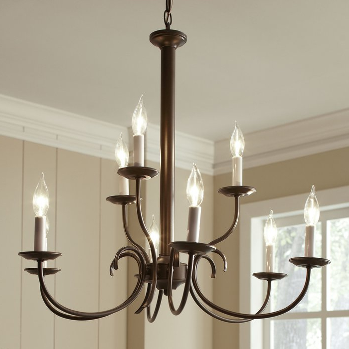 Joss & Main Pertaining To Berger 5 Light Candle Style Chandeliers (Gallery 17 of 25)