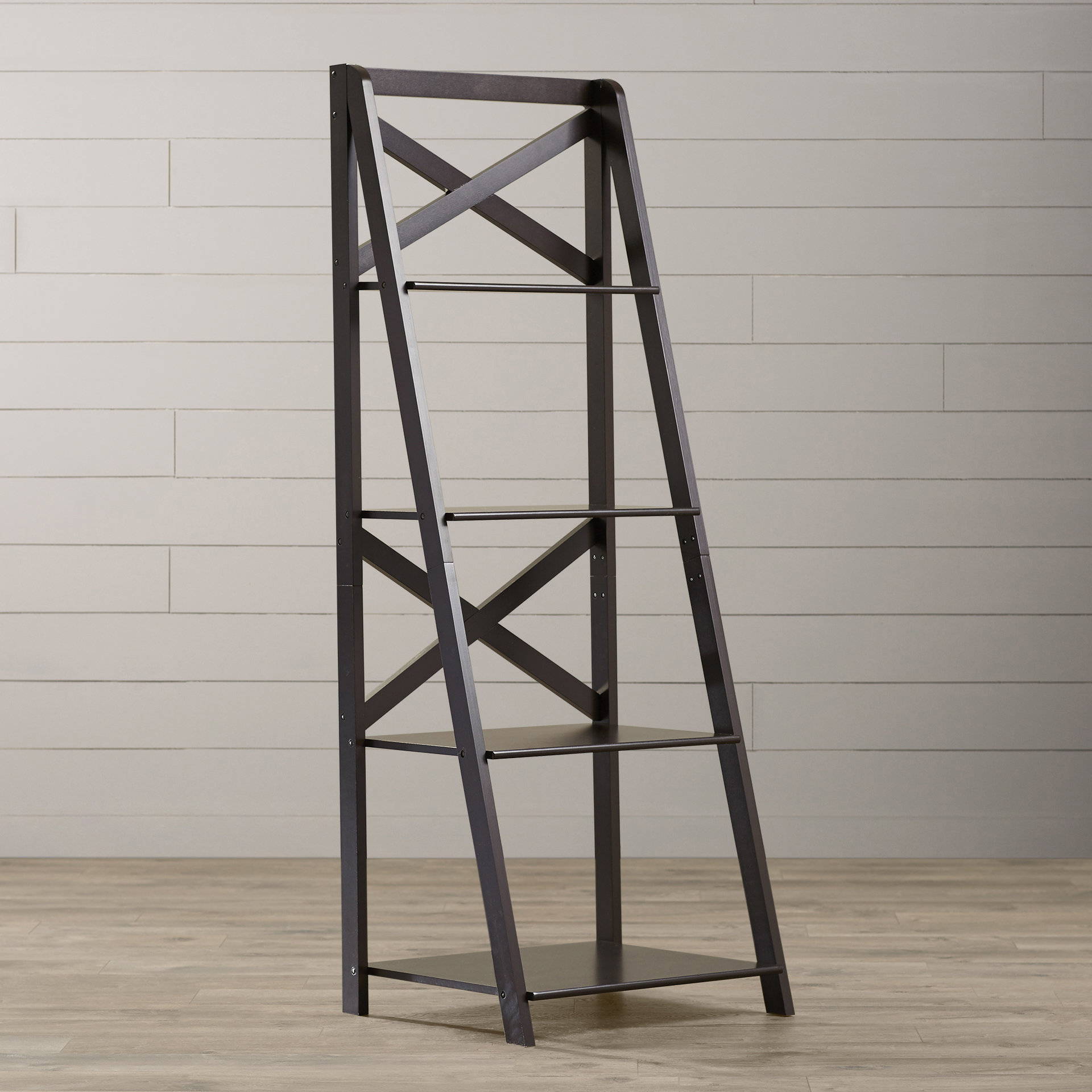 Kaitlyn Ladder Bookcases Pertaining To 2019 Kaitlyn Ladder Bookcase (View 7 of 20)
