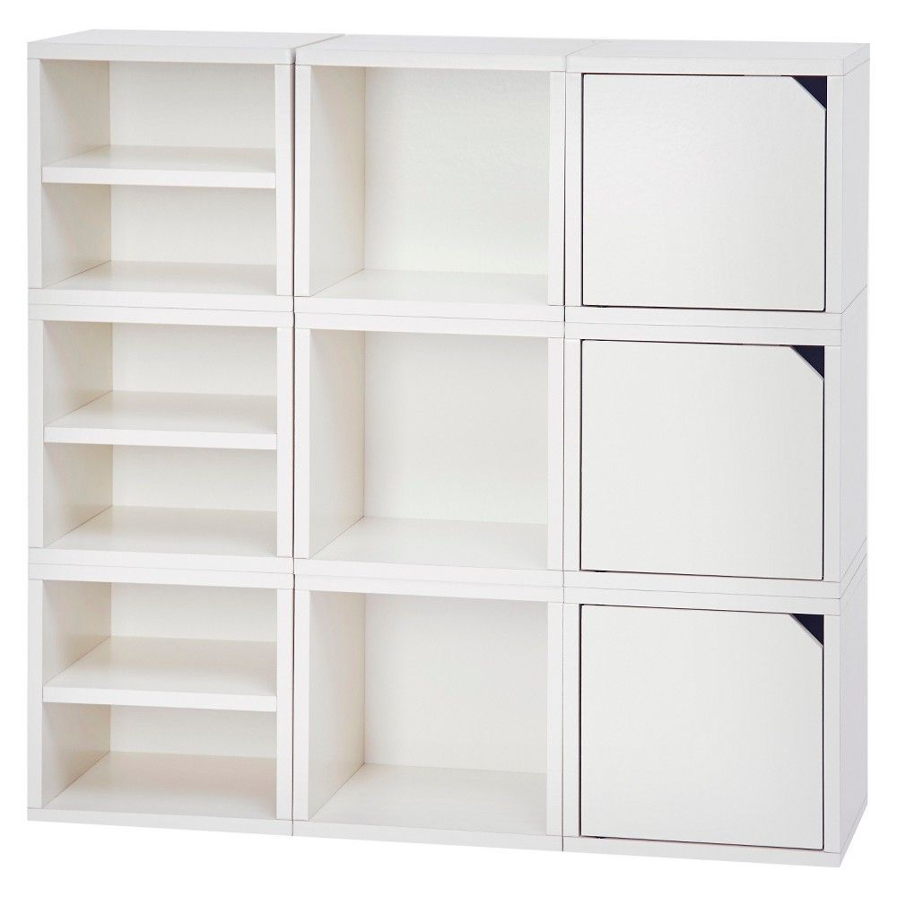 Karlie Cube Unit Bookcases Inside 2020 Way Basics 9 Cubby Connect Cube System Modular Storage (View 11 of 20)