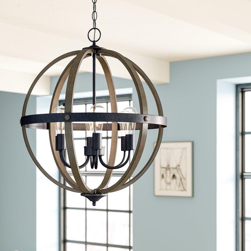 Kathrina 6 Light Globe Chandelier With Regard To 2017 Joon 6 Light Globe Chandeliers (View 18 of 25)