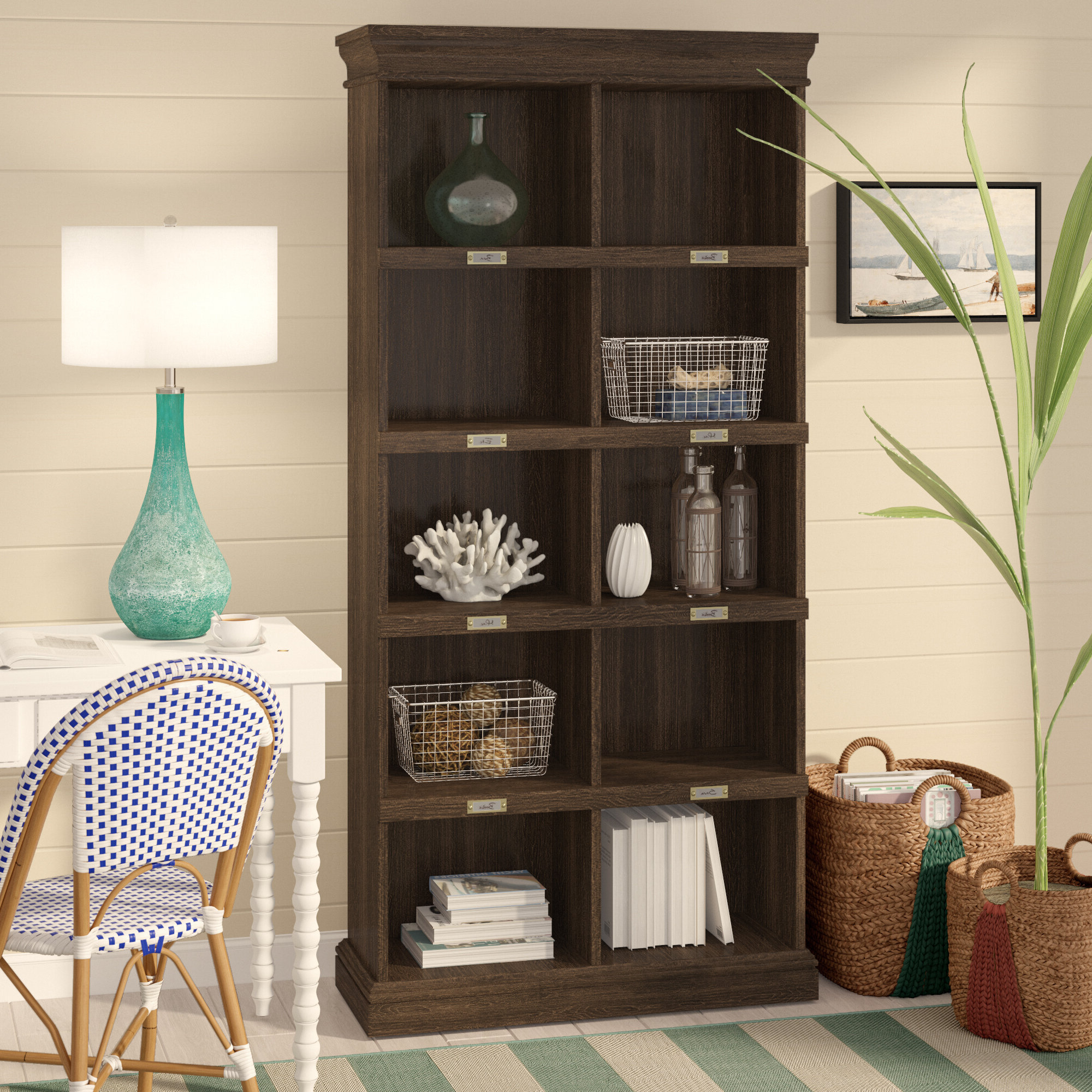 """Kayli Standard Bookcases Pertaining To Widely Used Bowerbank 75"""" Cube Unit Bookcase (View 4 of 20)"""