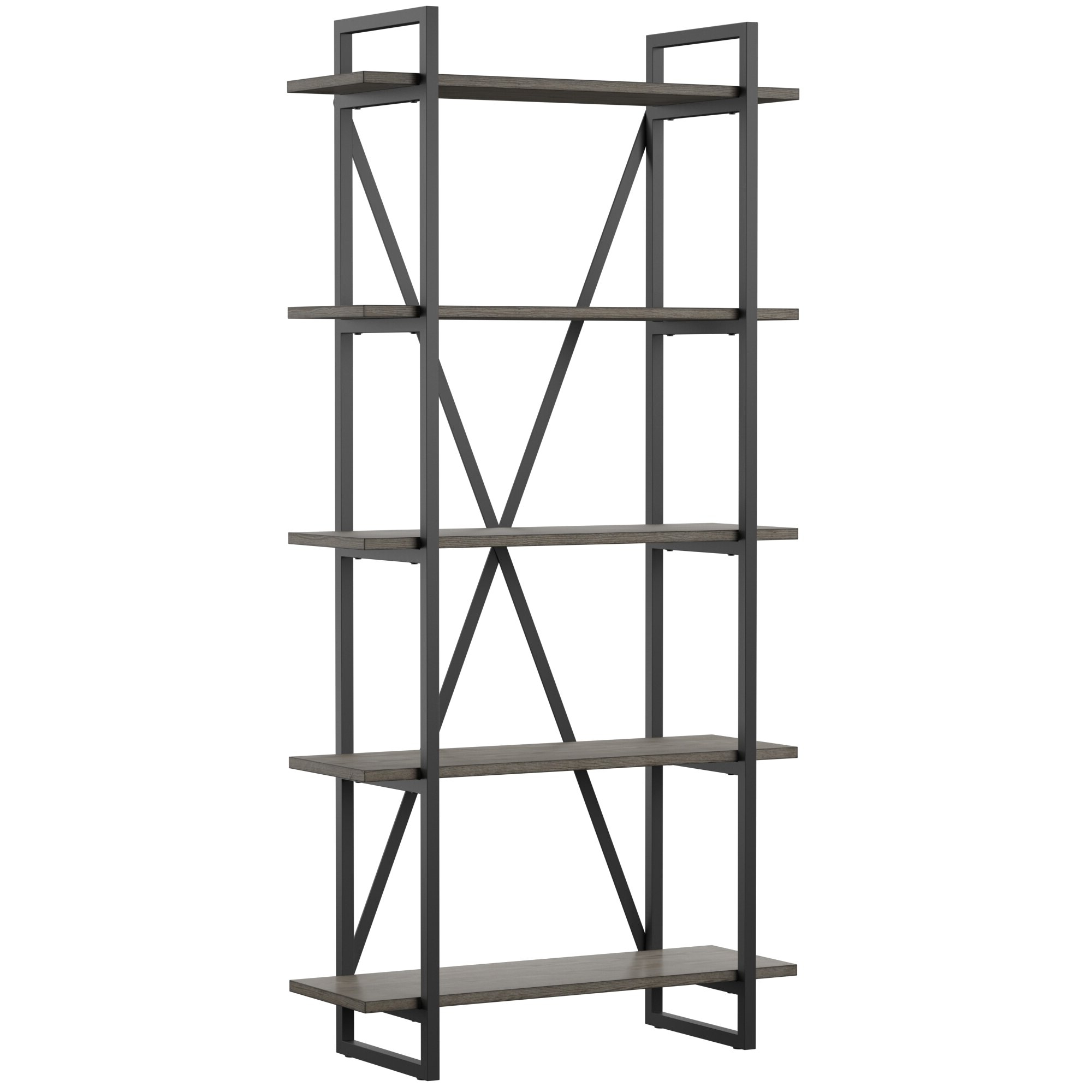 Keeble Metal Etagere Bookcase Inside Favorite Moriann Etagere Bookcases (View 6 of 20)