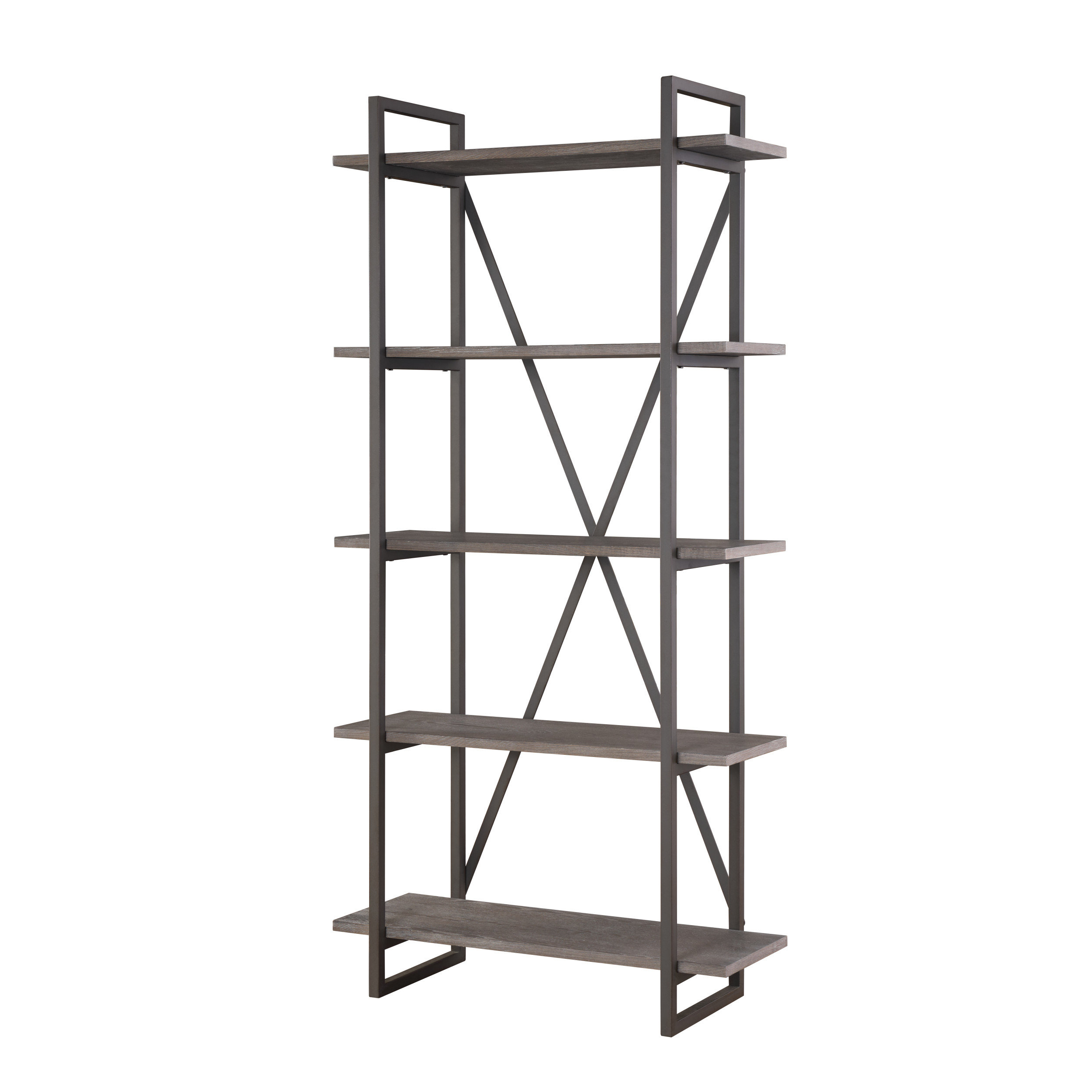 Keeble Metal Etagere Bookcase Intended For Favorite Oakside Etagere Bookcases (View 4 of 20)