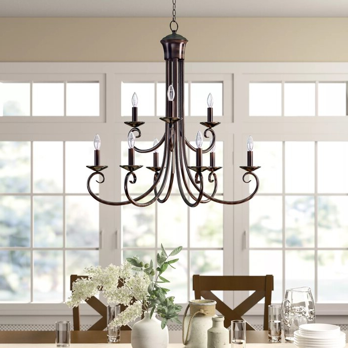Kenedy 9 Light Candle Style Chandelier With Regard To Favorite Kenedy 9 Light Candle Style Chandeliers (View 11 of 25)