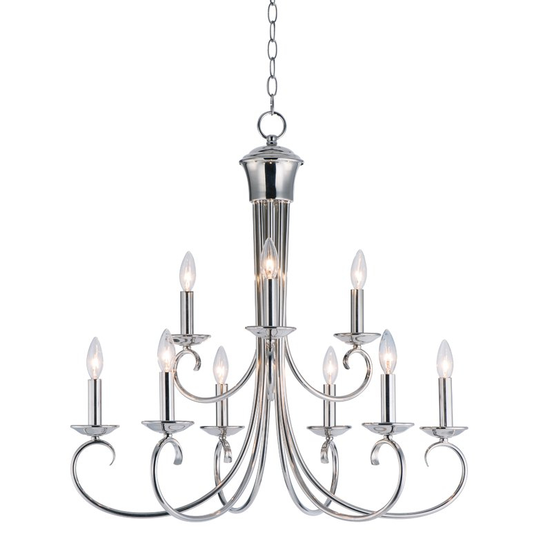 Kenedy 9 Light Candle Style Chandeliers Throughout Best And Newest Kenedy 9 Light Candle Style Chandelier (View 2 of 25)