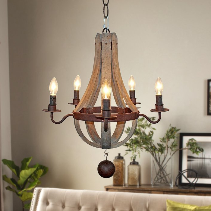 Kenna 5 Light Empire Chandeliers For Well Liked Amata Flask Shape 5 Light Empire Chandelier (View 11 of 25)