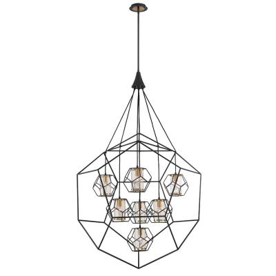 Kenroy Home Arne 5 Light Black Chandelier With Black Shade With Regard To Most Popular Blanchette 5 Light Candle Style Chandeliers (View 10 of 25)
