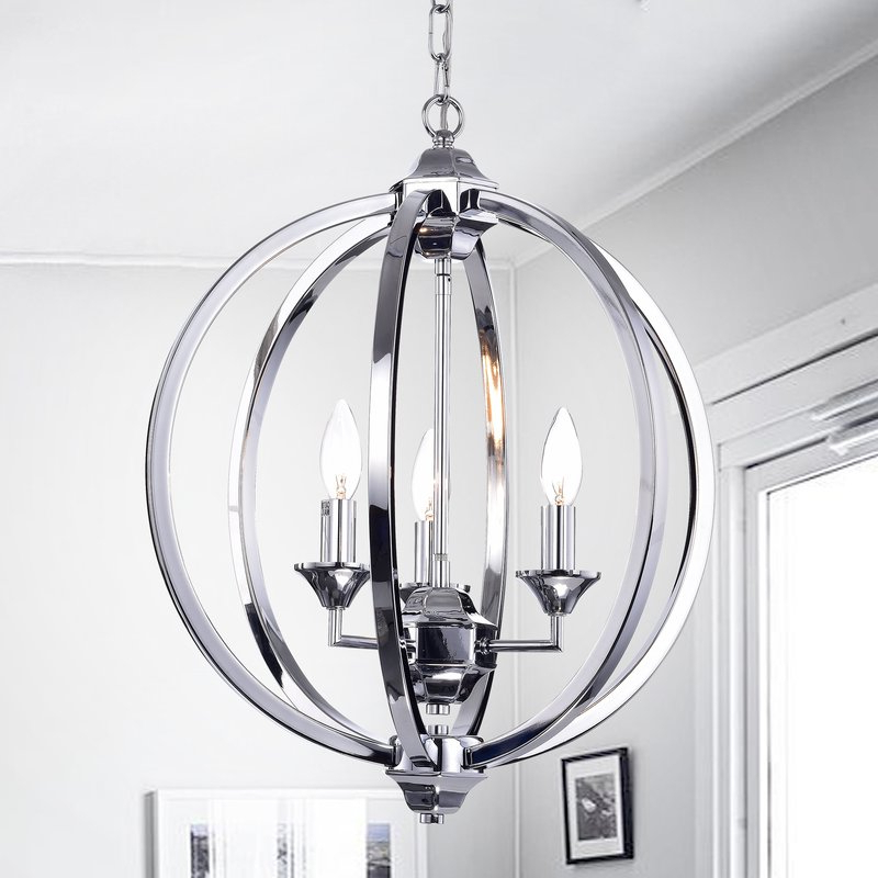 Kierra 4 Light Unique / Statement Chandeliers Pertaining To Most Popular Minneota 3 Light Globe Chandelier (View 10 of 25)