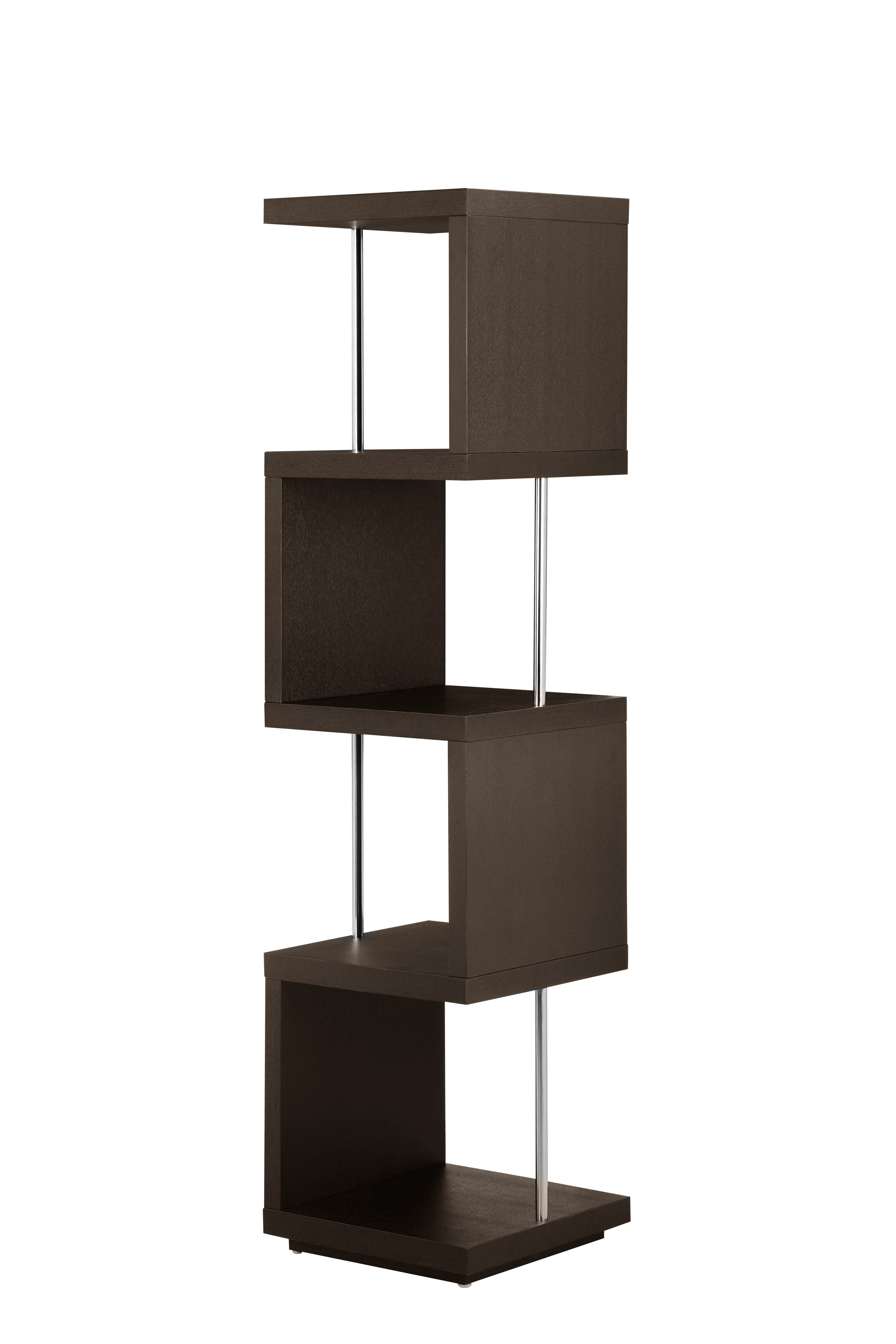 Kiley Standard Bookcases Inside Preferred Janice Geometric Bookcase (View 13 of 20)