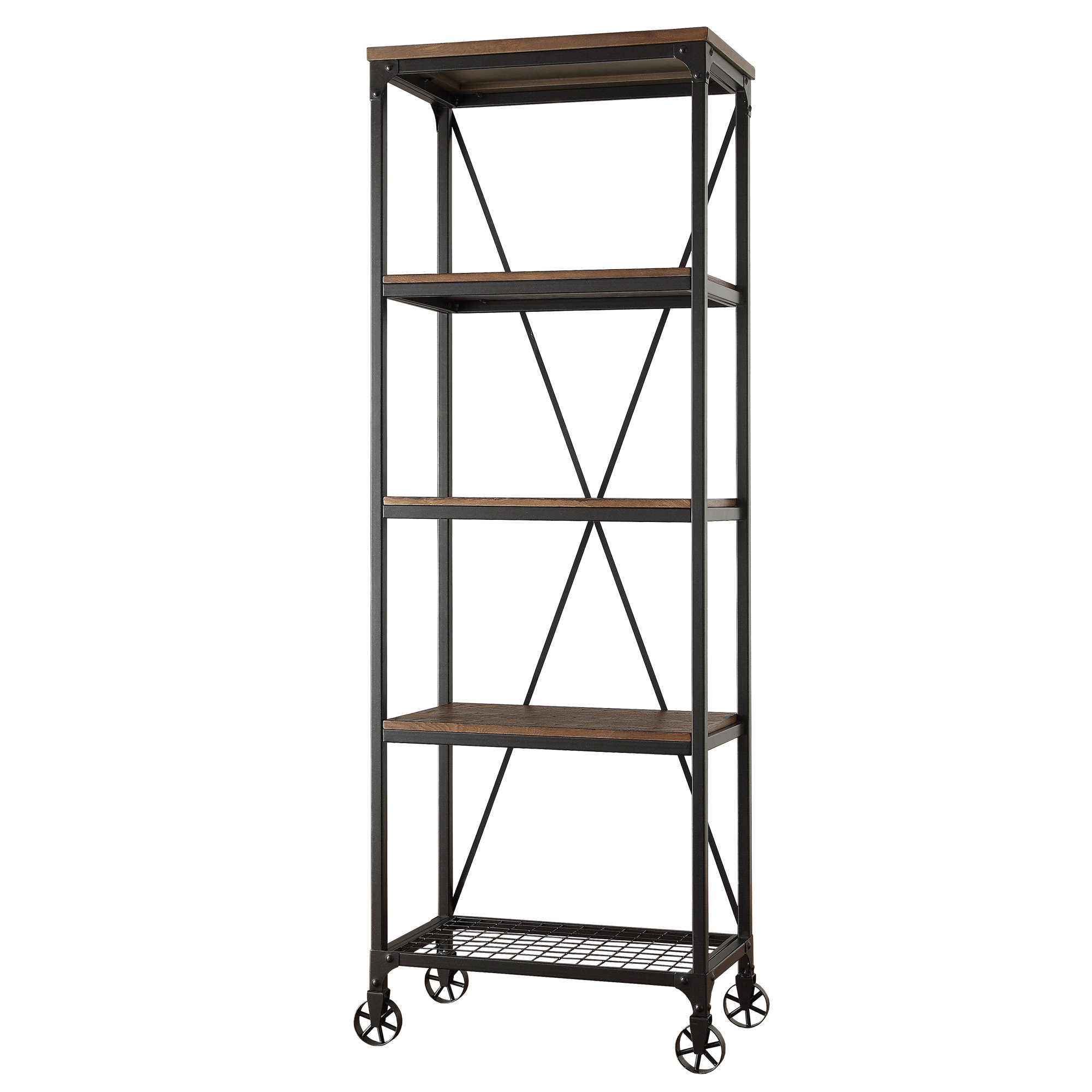 Kilmersdon Etagere Bookcase Intended For Most Popular Rocklin Etagere Bookcases (View 7 of 20)