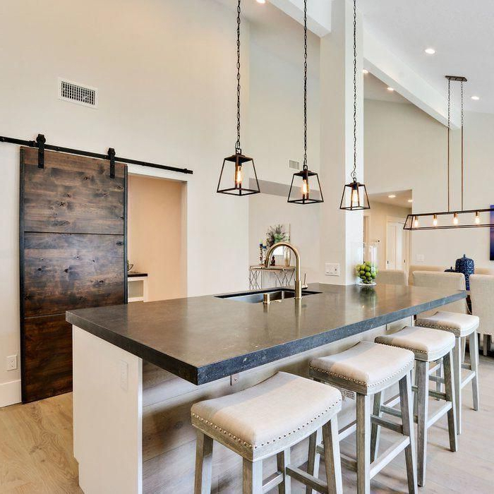 Kitchen In 2019 Intended For Well Known Louanne 1 Light Lantern Geometric Pendants (View 5 of 25)