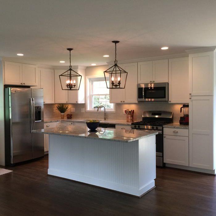 Kitchen Inside Carmen 4 Light Lantern Geometric Pendants (View 17 of 25)
