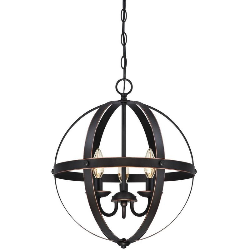 La Barge 3 Light Globe Chandelier With Regard To Well Liked Verlene Foyer 5 Light Globe Chandeliers (View 10 of 25)